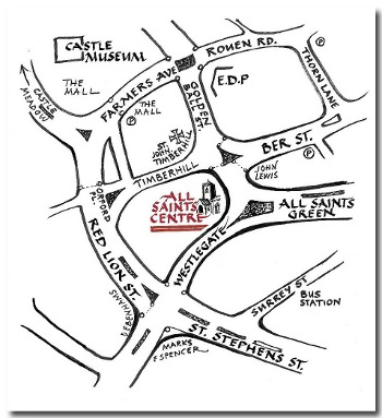 All Saints map
