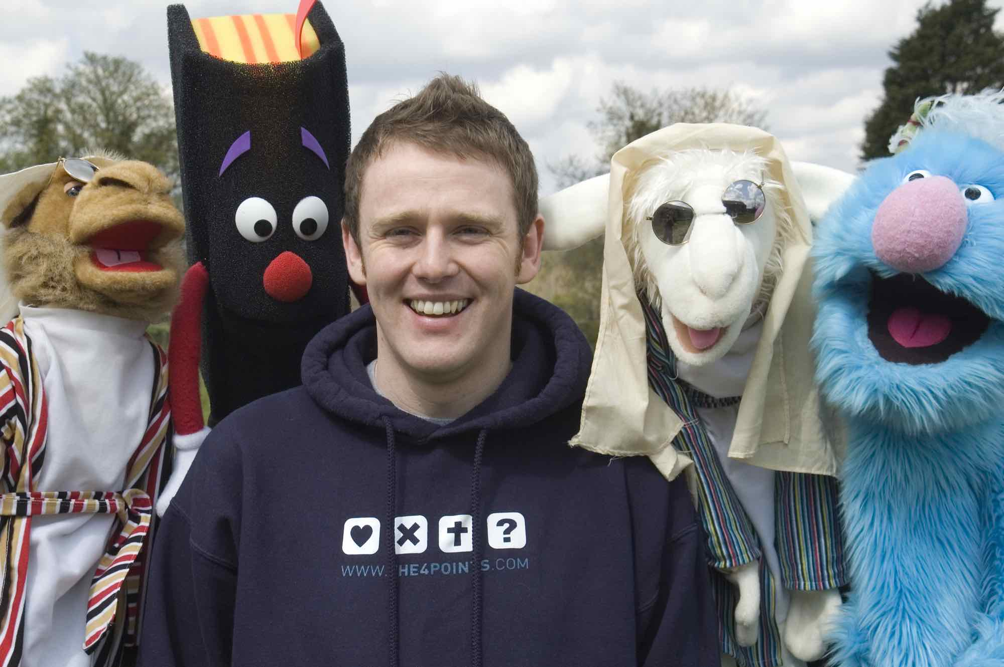 andy Jones and puppets