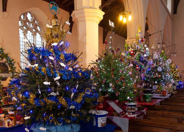 Network Norfolk : Christmas Tree Festival At Fakenham Church